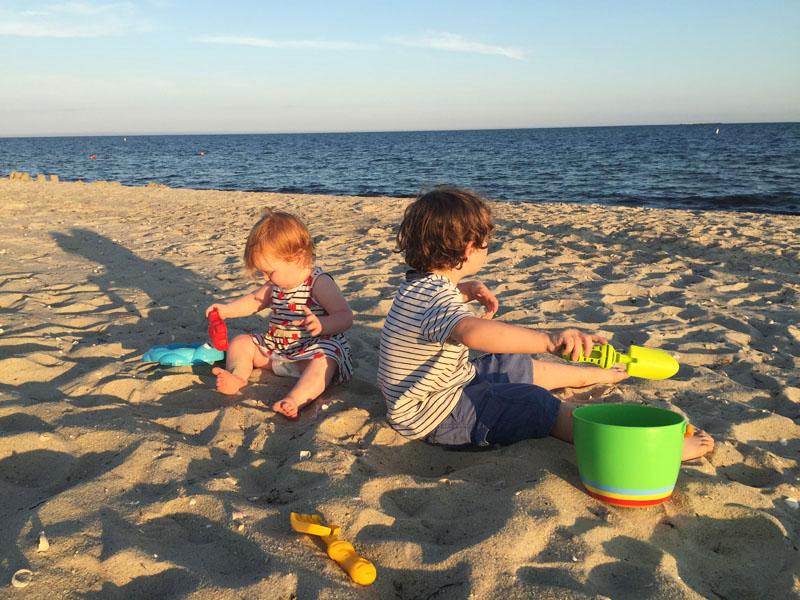 Kids Playing on Beach, Cape Cod, East Coast Road Trip