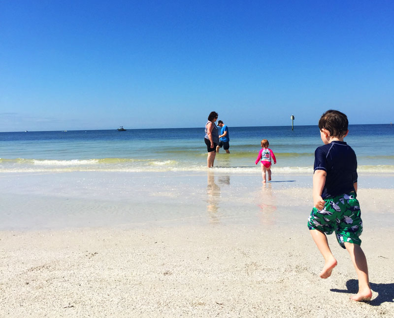 Kids playing, Clearwater Beach, Florida