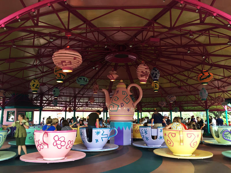 Riding the Tea Cups, Disneyworld Orlando, East Coast Road Trip