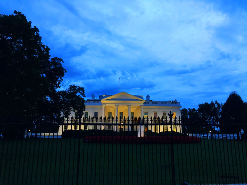 The White House at Twilight, East Coast Road Trip