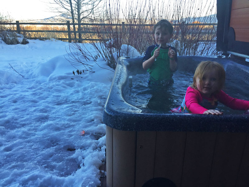 In the Hot Tub at Our Ski Condo in Park City