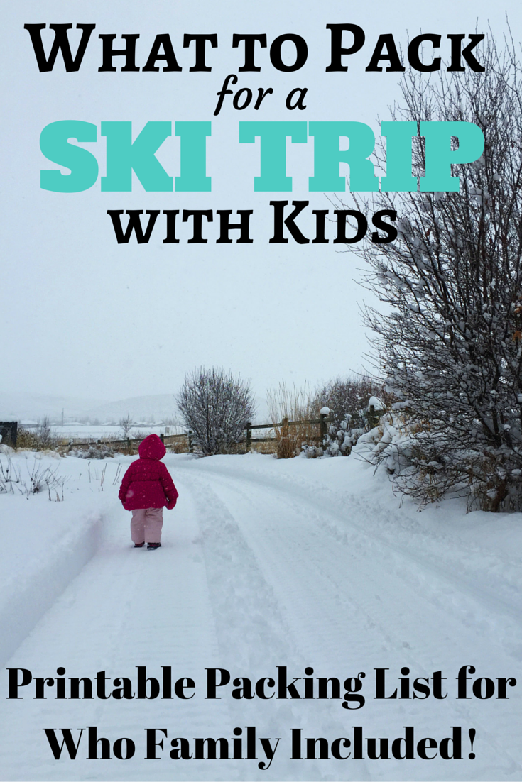 What to Pack for a Ski Trip with Kids