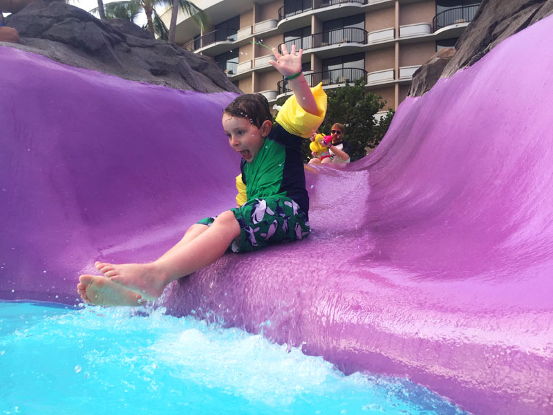 Reuben Waterslide Hilton Waikoloa Big Island Hawaii