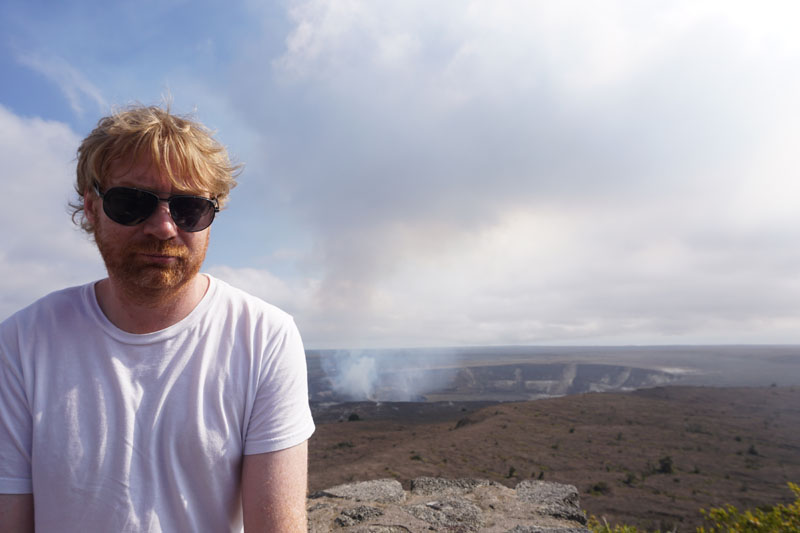 Lee at Kilauea, Volcanoes National Park, Hawaii