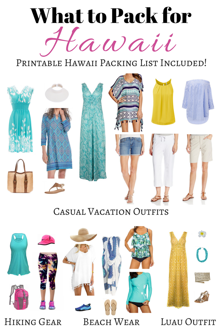 What to Pack for Hawaii, Outfit Ideas and Printable Hawaii Packing List