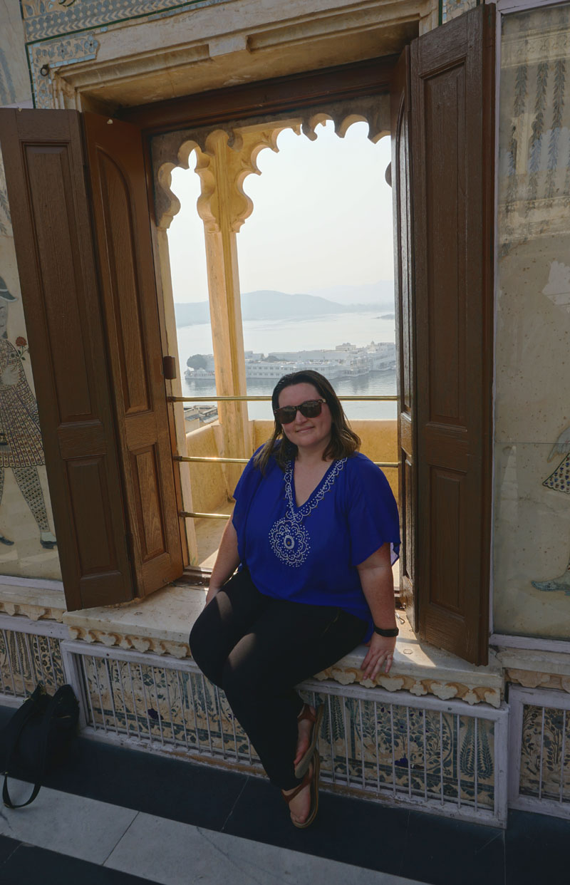 Bethaney at the City Palace in Udaipur, India