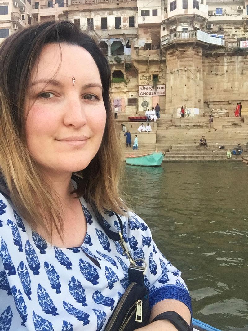 Bethaney in Varanasi, India