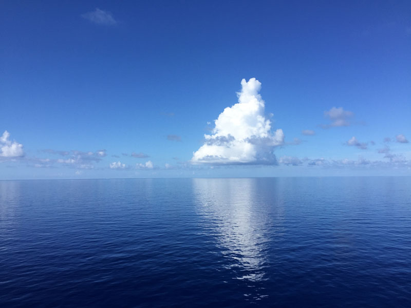 Beautiful calm seas in the Gulf of Mexico on our recent trip on the Carnival Breeze