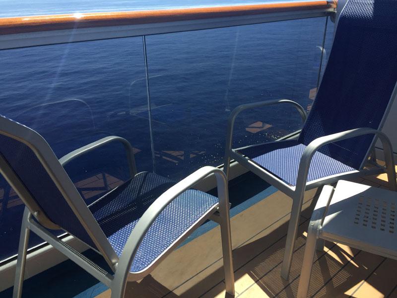 Balcony on Carnival Breeze