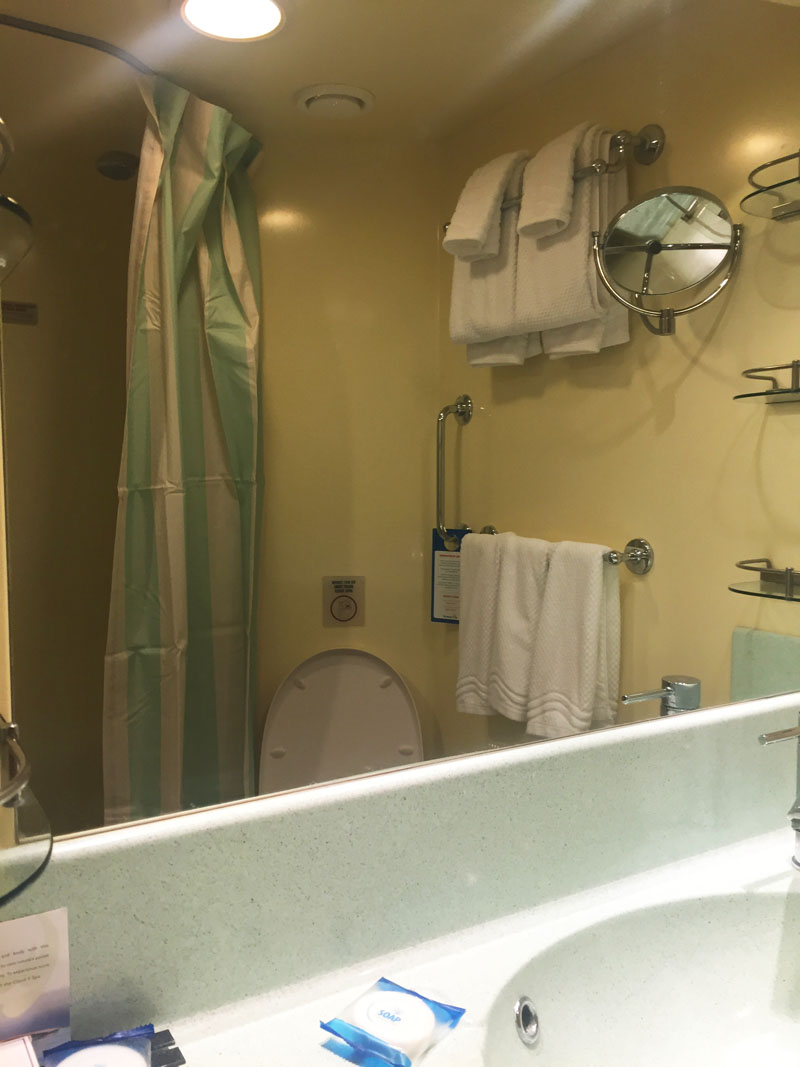 Bathroom on Carnival Breeze