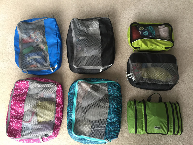 Packing for Family, How to Use Packing Cubes