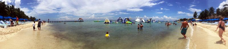 Hazel swimming at Paradise Beach, Cozumel in Mexico