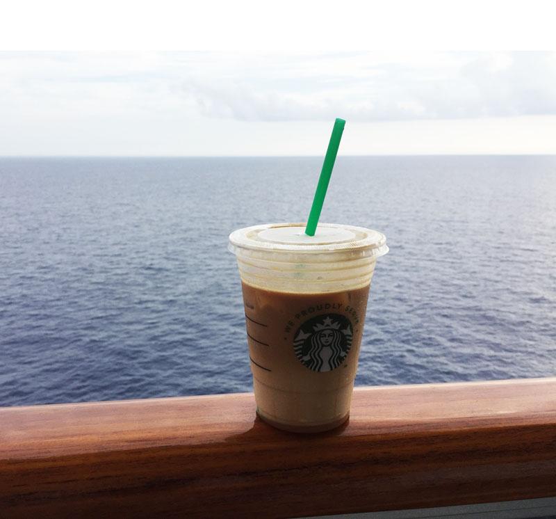 Starbucks Coffee on board the Carnival Breeze