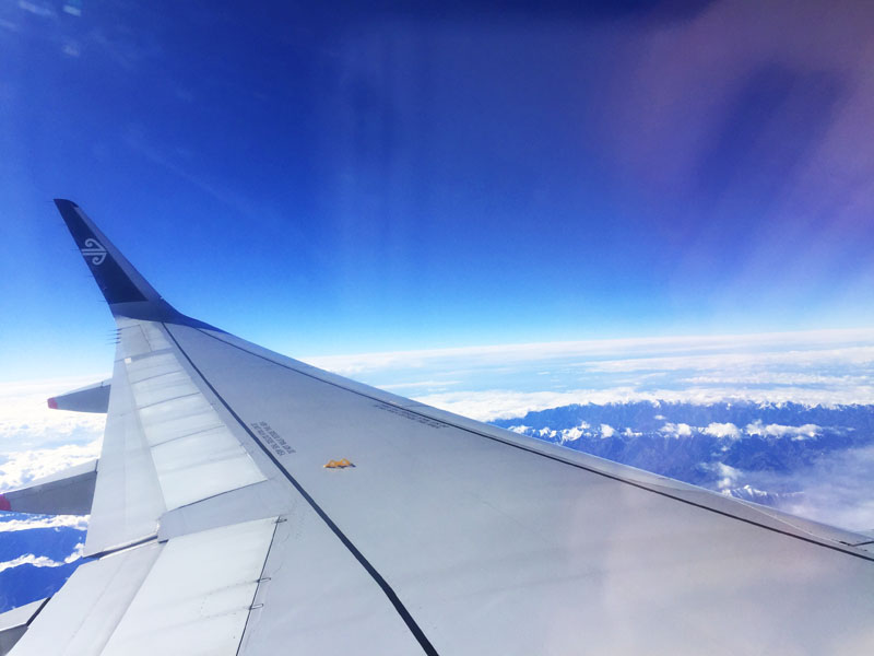 Another long flight on Air New Zealand - We've done SO many long haul flights this year!