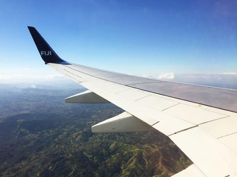 Flying into Fiji on Fiji Airways