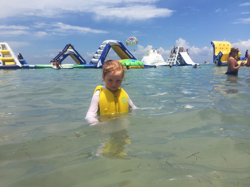 Hazel at Paradise Beach, Cozumel