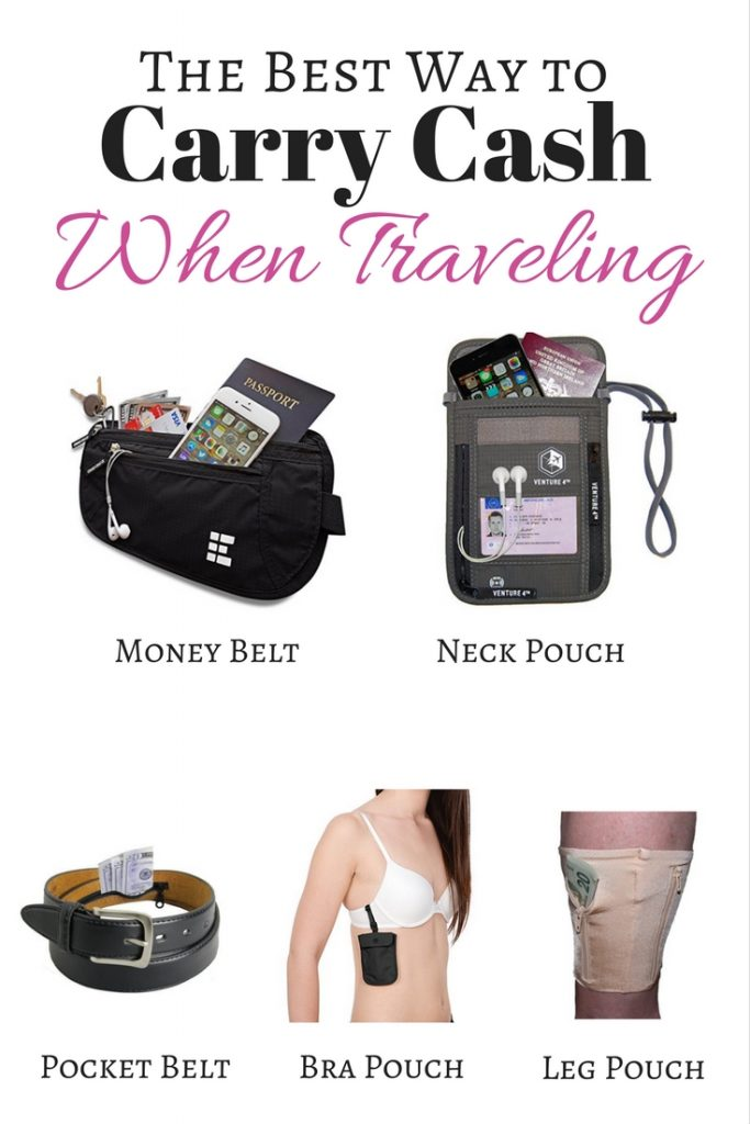 The Best Way to Carry Cash When Traveling - Guide to the Best Travel Money Belts and Neck Pouches