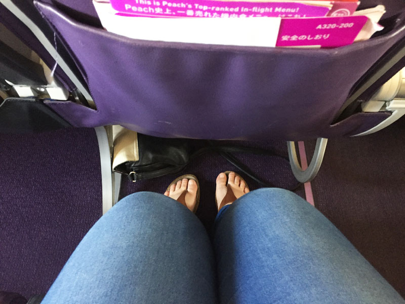 Legroom on Board Peach Airlines