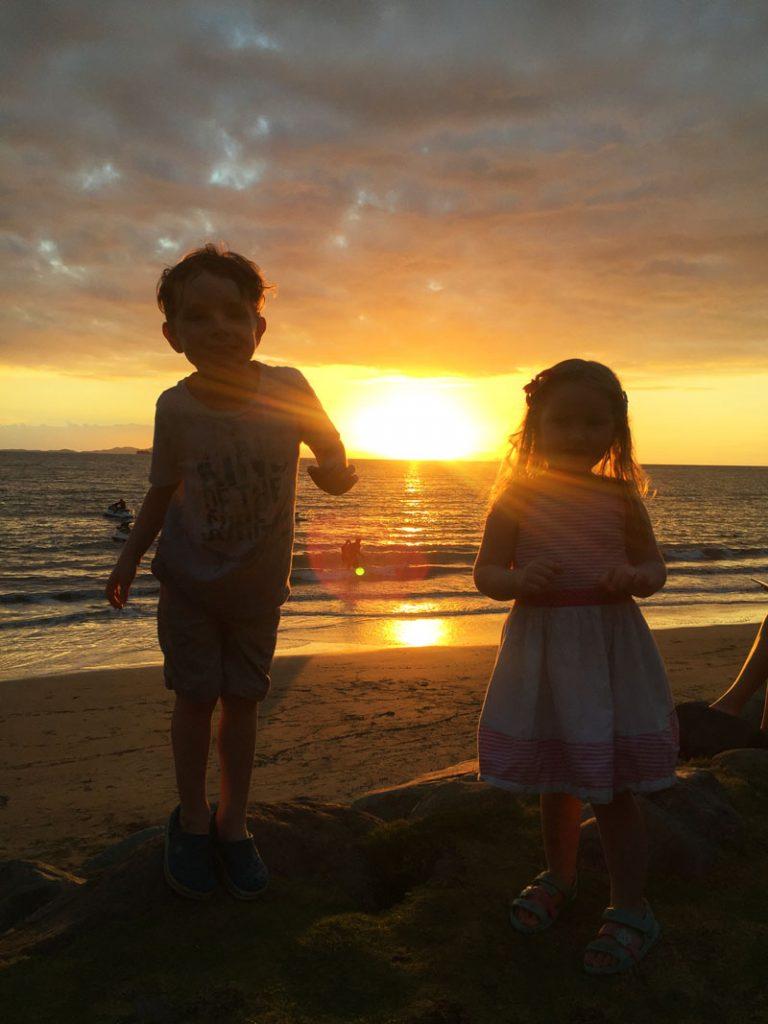 Reuben and Hazel enjoying the sunset in beautiful Fiji