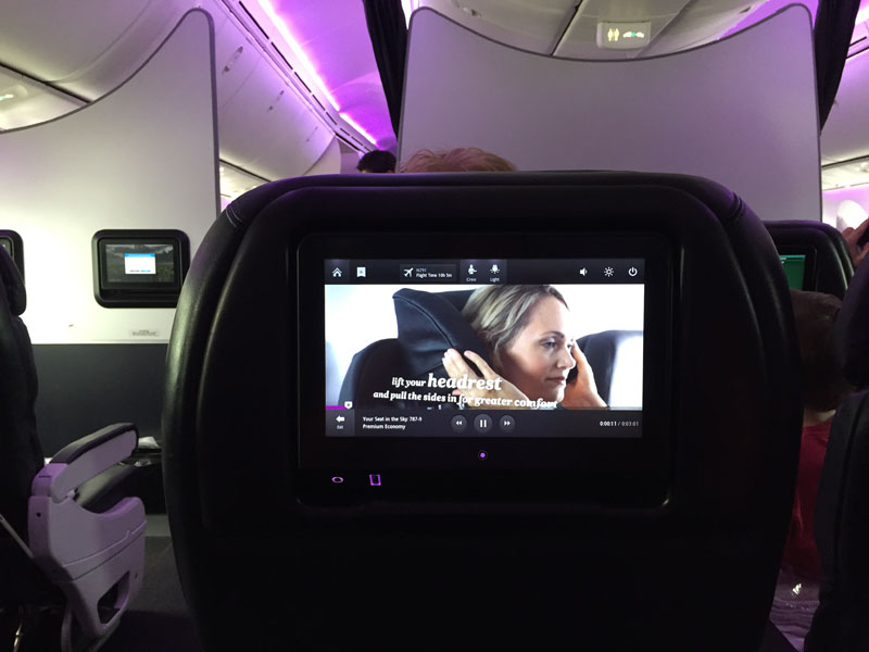 air new zealand 787 premium economy review ife