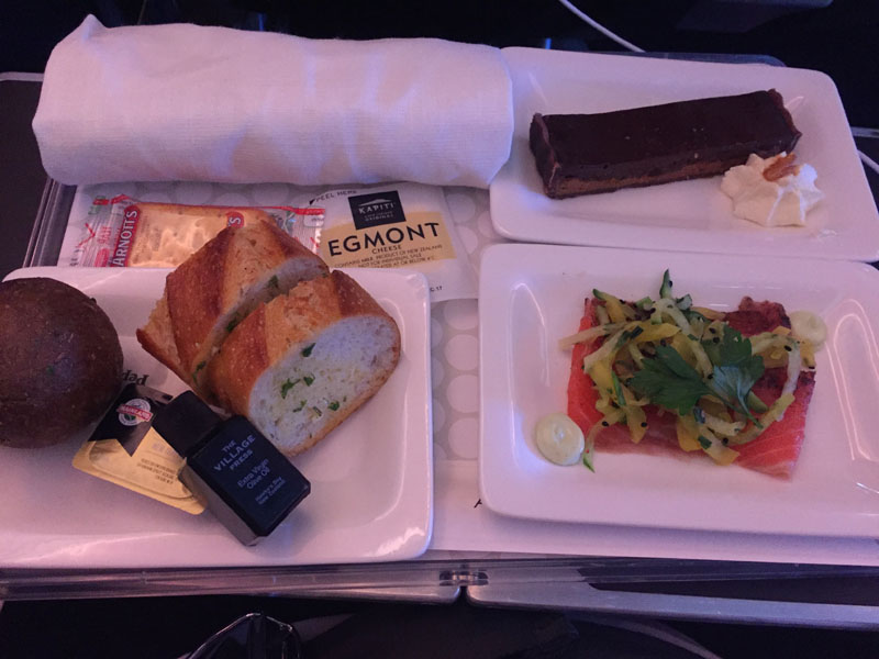tray-with-bread-starter-and-dessert-air-nz-premium-economy-food