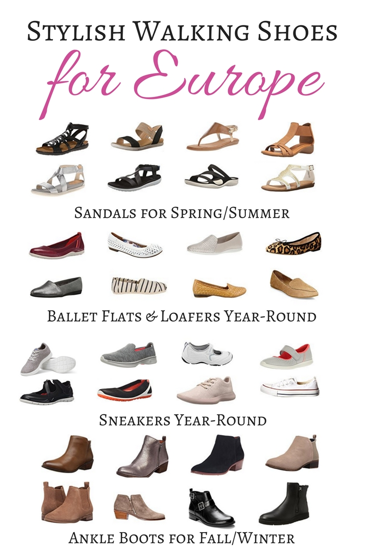 Stylish Walking Shoes for Europe - Best Travel Shoes for Europe