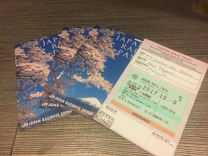 what to bring to japan, japan rail pass