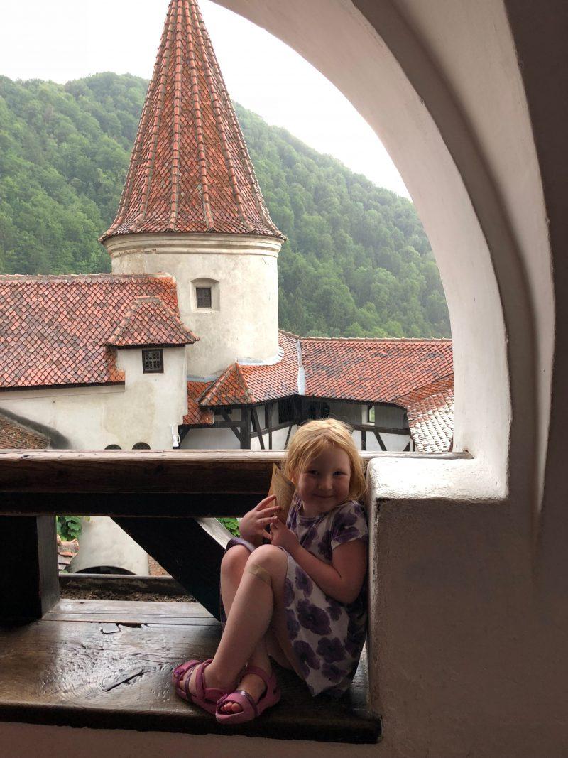 Hazel at Bran Castle, Romania