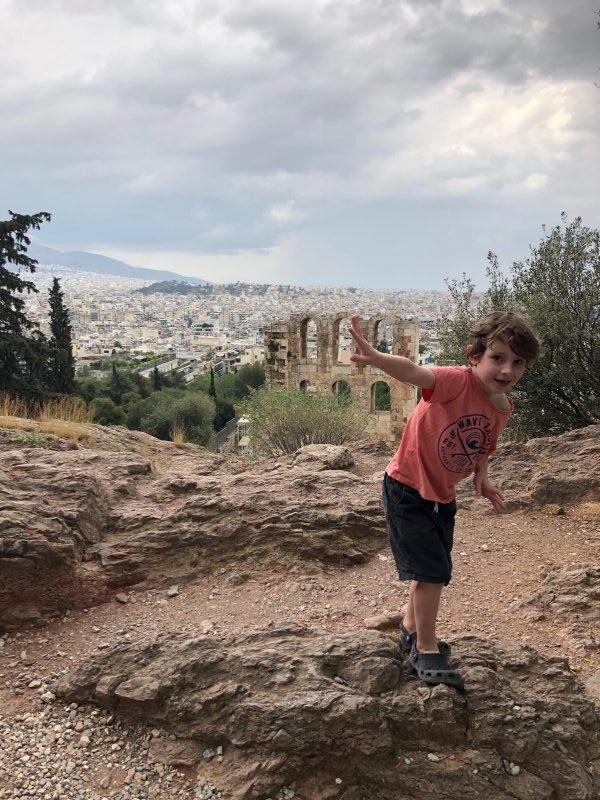 Reuben at the Acropolis in Athens, Greece