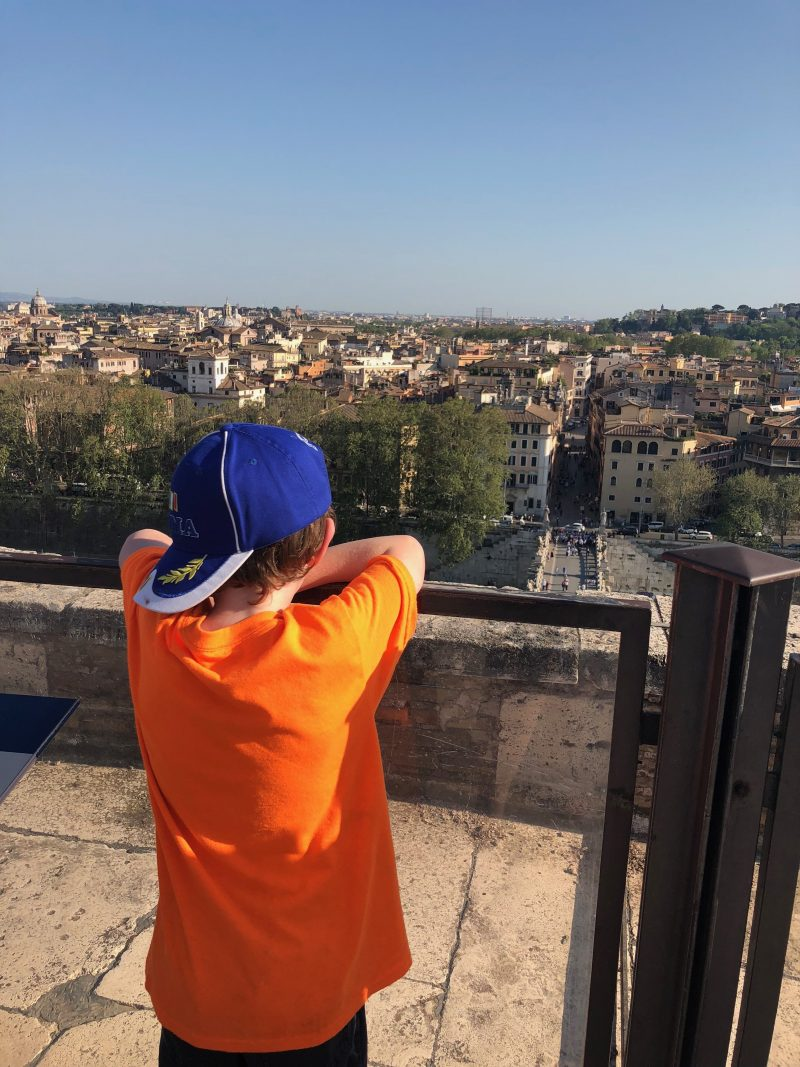 Reuben looking out over Rome
