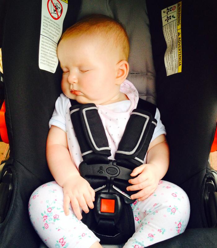 Hazel in Car Seat, Hawaii